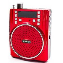 Φορητό ραδιόφωνο USB/MicroSD MP3 Player 5W multi-fuction Speaker κόκκινο YS-88 Ufree