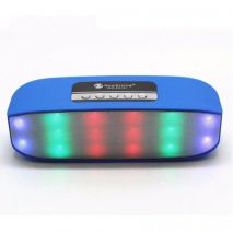 Φορητό Ηχείο Bluetooth 2.1+EDR 2 δρόμων 2*3watt  FM Radio USB Led light NR-2014 NewRixing Μπλε
