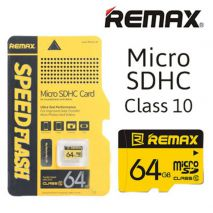 REMAX κάρτα μνήμης τύπου MicroSD SDΗC 64GB Class10 SPEED FLASH