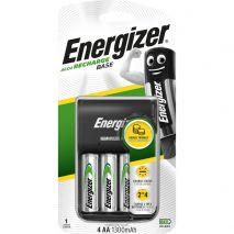 Energizer Φορτιστής μπαταριών ACCU Recharge base για AA/AAA με 4 ΑΑ  μπαταρίες 1300mAh  και LED ένδειξη φόρτισης