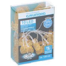 GRUNDIG 13152P  Διακοσμητικά λαμπάκια Ανανάδες LED Ψυχρό 10 τεμ. Μπαταρίας