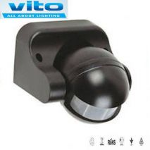 Infrared Motion Sensor Wall Μάυρος  MS03B  VITO