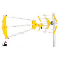 LTE-18BJD2 Triple small UHF Antenna yellow BIKAR LTE