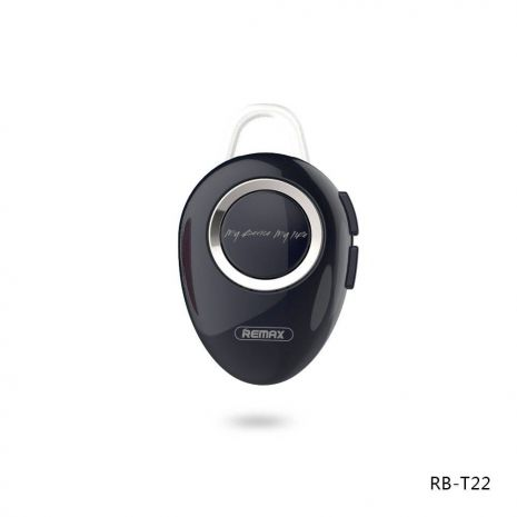 Remax bluetooth Handsfree RB-T22 σε μαύρο χρώμα V4.2