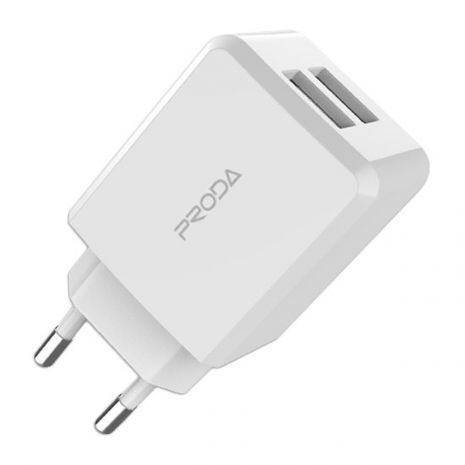 Proda Linshy Pro Charger PD-A22 Travel Charger Adapter Wall Charger 2x USB 2.1A white