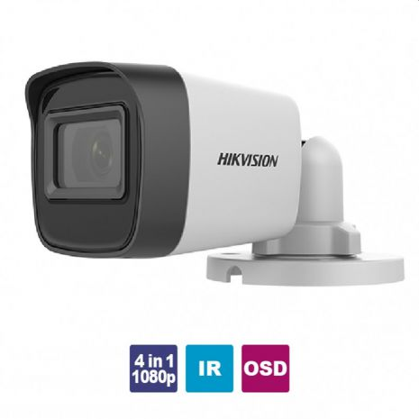 HIKVISION DS-2CE16D0T-EXIPF Κάμερα 4 in 1 Bullet 2.8mm 1080p 2MP IR Led 20m