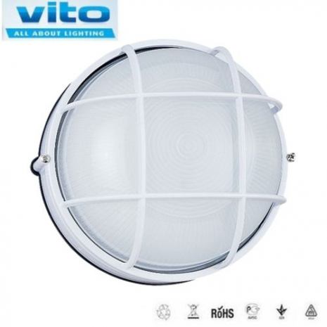 Light outdoor wall or ceiling mounted White 60W MAX LUNA-S2 VITO
